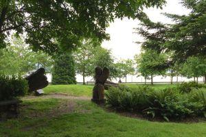Park along Vancouver Bay shoreline